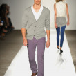 a model walks the runway at the dl 1961 premium denim spring 2013 fashion show — Stock Photo