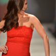 NEW YORK, NY - FEBRUARY 06: Roselyn Sanchez wearing Tadashi Shoji walks the runway at The Heart Truth's Red Dress Collection during Fall 2013 Mercedes-Benz Fashion Week on February 6, 2013, NYC. — Stock Photo #19918415