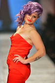NEW YORK, NY - FEBRUARY 06: Kelly Osbourne wearing Zac Posen walks the runway at The Heart Truth's Red Dress Collection during Fall 2013 Mercedes-Benz Fashion Week on February 6, 2013 ,NYC. — Stock Photo