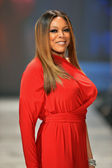 NEW YORK, NY - FEBRUARY 06: Wendy Williams wearing Kamali Kulture walks the runway at The Heart Truth's Red Dress Collection during Fall 2013 Mercedes-Benz Fashion Week on February 6, 2013, NYC. — Stock Photo