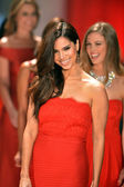 NEW YORK, NY - FEBRUARY 06: Roselyn Sanchez wearing Tadashi Shoji walks the runway at The Heart Truth's Red Dress Collection during Fall 2013 Mercedes-Benz Fashion Week on February 6, 2013, NYC. — Stock Photo