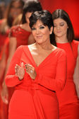 NEW YORK, NY - FEBRUARY 06: Kris Jenner wearing Badgley Mischka walks the runway at The Heart Truth's Red Dress Collection during Fall 2013 Mercedes-Benz Fashion Week on February 6, 2013, NYC. — Stock Photo