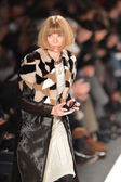 NEW YORK, NY - FEBRUARY 11: Editor-in-chief of American Vogue Anna Wintour at the Caroline Herrera Fall Winter 2013 fashion show during Mercedes-Benz Fashion Week on February 11, 2013, NYC. — Stock Photo