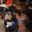 Editor-in-chief Anna Wintour attends at the Donna Karan Fall Winter 2013 fashion show during Mercedes-Benz Fashion Week on February 11, 2013 in New York City. - Stock Photo