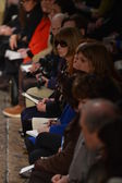 Editor-in-chief Anna Wintour attends at the Donna Karan Fall Winter 2013 fashion show during Mercedes-Benz Fashion Week on February 11, 2013 in New York City. — Stock Photo