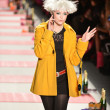 NEW YORK, NY - FEBRUARY 11: A model walks the runway at the Betsey Johnson Fall 2013 fashion show during Mercedes-Benz Fashion Week at Lincoln Center on February 11, 2013 in New York City - Stock Photo