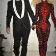 Stock Photo: NEW YORK, NY - FEBRUARY 12: Blonds designers (L-R) David Blond and Phillip Blond walk runway at Blonds fall 2013 fashion show during MADE Fashion Week at Milk Studios