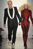 NEW YORK, NY - FEBRUARY 12: The Blonds designers (L-R) David Blond and Phillip Blond walk the runway at the The Blonds fall 2013 fashion show during MADE Fashion Week at Milk Studios — Stock Photo