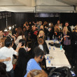 图库照片: NEW YORK, NY - SEPTEMBER 08:General view of make-up, hair arear backstage at KatyLeonovich show during Spring 2013 Mercedes-Benz Fashion Week at Studio Lincoln Center