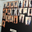 图库照片: NEW YORK, NY - SEPTEMBER 08: model lineup photos on dashboard backstage at KatyLeonovich show during Spring 2013 Mercedes-Benz Fashion Week at Studio Lincoln Center