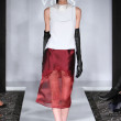 NEW YORK - FEBRUARY 10: A model walks runway for Victor de Souza collection at the Strand hotel during Mercedes-Benz Fashion Week on February 10, 2013 in New York City - Stock Photo