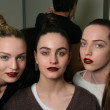 NEW YORK - FEBRUARY 10: Models posing backstage for Victor de Souza collection at the Strand hotel during Mercedes-Benz Fashion Week on February 10, 2013 in New York City - Stock Photo