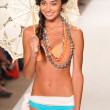 MIAMI - JULY 15: Model walks runway at the L Space Swimsuit Collection for Spring, Summer 2012 during Mercedes-Benz Swim Fashion Week on July 15, 2011 in Miami - 