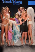 MIAMI - July 14: Designer Angela Chittenden, daughter Presley and models walks runway at the Beach Bunny Swimsuit Collection for Spring, Summer 2012 during Mercedes-Benz Swim Fashion Week — Stock Photo
