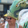 NEW YORK - JUNE 18: Unidentified participant attends Mermaid parade on Coney Island in Brooklyn on June 18, 2011 in New York City - Stock Photo