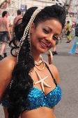 NEW YORK - JUNE 18: Unidentified participant attends Mermaid parade on Coney Island in Brooklyn on June 18, 2011 in New York City — Stock Photo