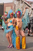 NEW YORK - JUNE 18: Unidentified participants attend Mermaid parade on Coney Island in Brooklyn on June 18, 2011 in New York City — Stock Photo