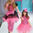 图库照片: Los Angeles - March 13: children models walk runway at Hollywood kids Fall Winter 2013 fashion show during STYLE Fashion Week at VibianCathedral on March 13, 2013 in Los Angeles, CA