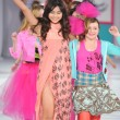 Los Angeles - March 13: A child models walk the runway at the Hollywood kids Fall Winter 2013 fashion show during STYLE Fashion Week at Vibiana Cathedral on March 13, 2013 in Los Angeles, CA - Stock Photo