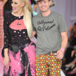 Los Angeles - March 13: Designer Traver Rains (R) and singer walks the runway at the Hollywood kids Fall Winter 2013 fashion show during STYLE Fashion Week at Vibiana Cathedral on March 13, 2013 - Stock Photo
