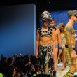 Los Angeles - March 12: Model walks runway at Traver Rains show during Project Ethos Fashion event at club Avalon on March 12, 2013 in Los Angeles, CA - Stock Photo