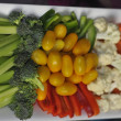 Party tray of chopped vegetables - Stok fotoğraf