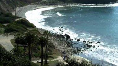 Panorama of CA coastline at Rancho Palos Verdes — Stock Video