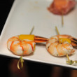 Shrimp Appetizers at cocktail party — Stock Photo