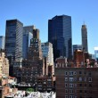 Rooftop view to upper east side Manhattan New York NY — Stok fotoğraf