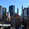 Rooftop view to upper east side Manhattan New York NY - Stock Photo