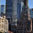 Rooftop view to upper east side Manhattan New York NY — Stock Photo