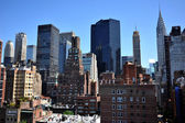 Rooftop view to upper east side Manhattan New York NY — Стоковое фото