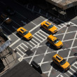 Stock Photo: Yellow cabs going downtown at Lexington Avenue, upper east side ManhattNew York NY