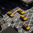 Stock Photo: Yellow cabs going downtown at Lexington Avenue, upper east side Manhattan New York NY