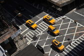Yellow cabs going downtown at Lexington Avenue, upper east side Manhattan New York NY — Stock Photo