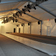 Empty tents get ready before Mercedes-Benz Fashion Week Swim 2014 — Stock Photo #28510409