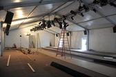 空帐篷准备好之前梅赛德斯-奔驰时装周游泳 2014 — 图库照片