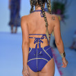 Model walks runway at the Agua Di Lara Collection for 2014 during Mercedes-Benz Swim Fashion Week — Stock Photo