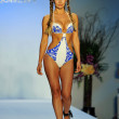 Model walks runway at the Agua Di Lara Collection for 2014 — Stock Photo