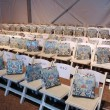 General view to rows and gift bags at the Agua Bendita Collection for Spring - Summer 2014 — Stock Photo