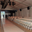 General view to empty Cabana grande tent before the Agua Bendita Collection — Stock Photo