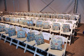 General view to rows and gift bags at the Agua Bendita Collection for Spring - Summer 2014 — Stok fotoğraf