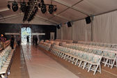 General view to empty Cabana grande tent before the Agua Bendita Collection — Stok fotoğraf