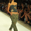 Model walks runway at the Agua Bendita Collection for Spring - Summer 2014 — Stock Photo