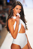 A model walks the runway at the Lolli Swim show during Mercedes-Benz Fashion Week — Stock Photo