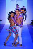 Dancers performing at Luli Fama for 2014 collection during Mercedes-Benz Fashion Week — Stock Photo