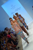 Models walk the runway finale at the Mara Hoffman Swim show during Mercedes-Benz Fashion Week — Stock Photo