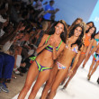 Models walks runway at the Indah Swimwear Collection — Stock Photo