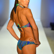 A model walks the runway at the Caffe Swimwear show — Foto de Stock