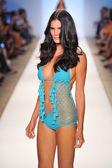 A model walks the runway at the Anna Kosturova show — Stock Photo